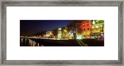 River Liffey, Dublin, Co Dublin, Ireland Framed Print by The Irish Image Collection