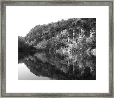 River Reflection Framed Print by Paul Roger Ballard