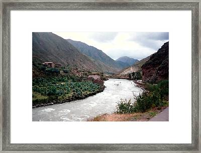 River Urubamba Through The Sacred Valley Of The Incas Framed Print by Ronald Osborne