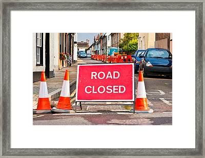 Road Closed Framed Print by Tom Gowanlock