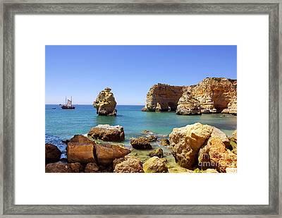 Rocky Coast Framed Print by Carlos Caetano