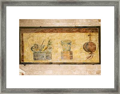 Roman Fresco, Ostia Antica Framed Print by Sheila Terry