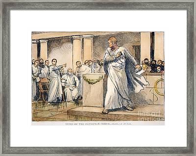 Roman Senate: Catiline Framed Print by Granger