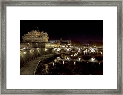 Rome Ponte San Angelo Framed Print by Joana Kruse