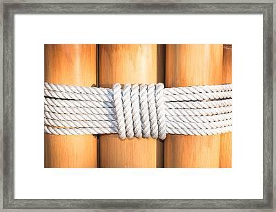 Rope Framed Print by Tom Gowanlock