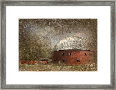 Route 66 Round Barn Framed Print by Betty LaRue