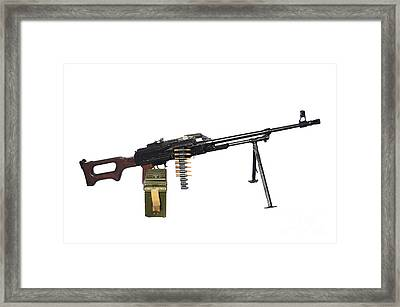 Russian Pkm General-purpose Machine Gun Framed Print by Andrew Chittock