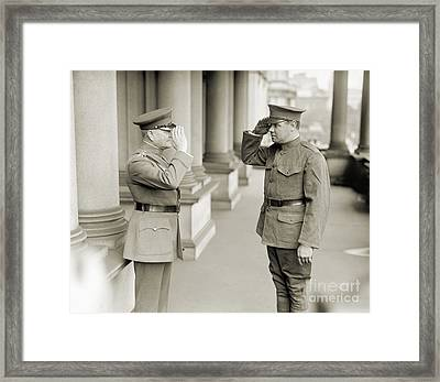 Ruth & Pershing, 1924 Framed Print by Granger