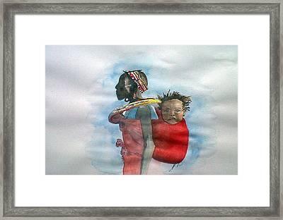 Samburu Tribe IIi. Framed Print by Paula Steffensen