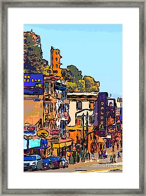San Francisco Broadway Framed Print by Wingsdomain Art and Photography