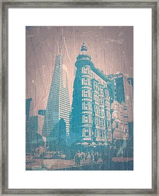 San Fransisco Framed Print by Naxart Studio