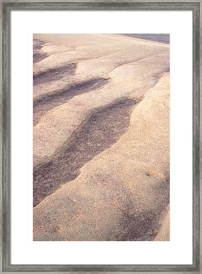 Sand Waves Framed Print by John Foxx