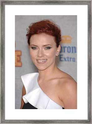 Scarlett Johansson At Arrivals Framed Print by Everett