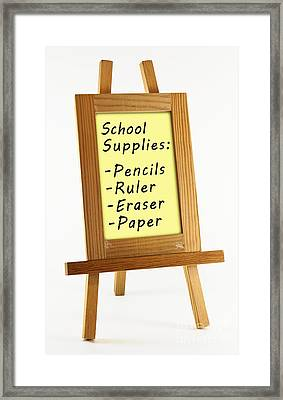 School Supplies Framed Print by Blink Images