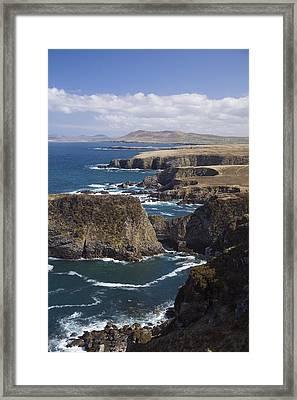Sea Cliffs And Coastline Near Erris Framed Print by Gareth McCormack