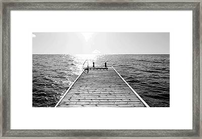 Sea Jetty Framed Print by Smallfort Photography Collection