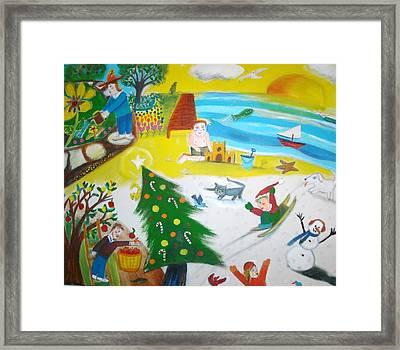 Seasons Framed Print by Ward Smith