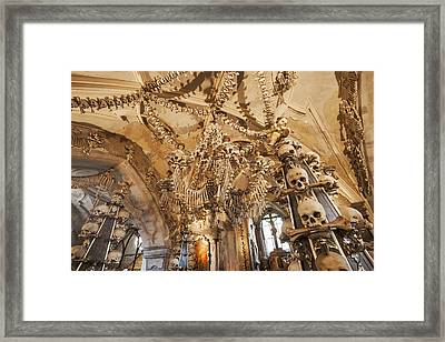 Sedlec, All Saints Chapel, The Ossuary Framed Print by Maremagnum