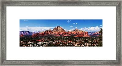 Sedona Red Rock Framed Print by Lisa  Spencer
