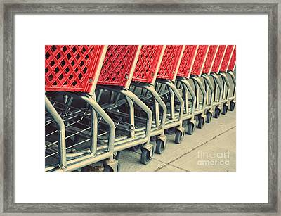 Shopping Cart Framed Print featuring the photograph Shopping Carts by HD Connelly