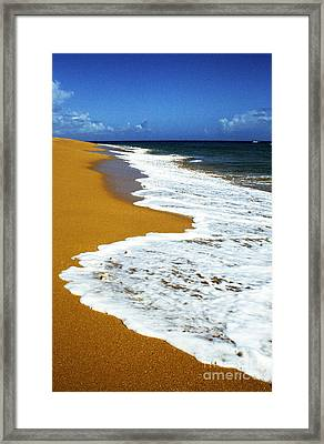 Shoreline Along Pinones Framed Print by Thomas R Fletcher