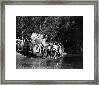 Silent Film Still: Natives Framed Print by Granger