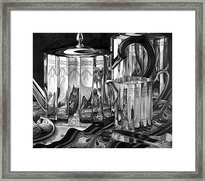Silver Teapots Framed Print by Jerry Winick