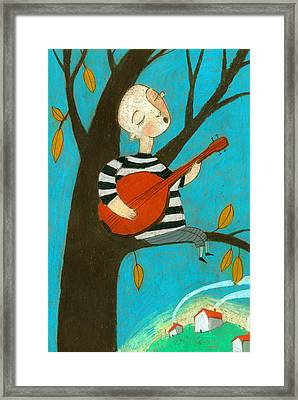 Singing Song Framed Print by Jenny Meilihove