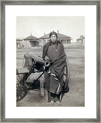 Sioux Warrior, 1891 Framed Print by Granger