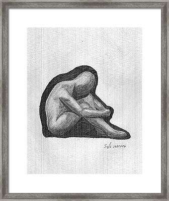 Sketch Framed Print by Safa Al-Rubaye