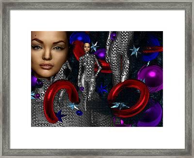 Sky Woman Framed Print by Bogdan Floridana Oana