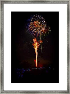 Small Town Celebration Framed Print by David Hahn
