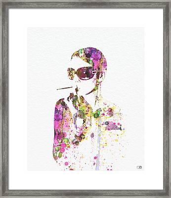 Smoking In The Sun Framed Print by Naxart Studio