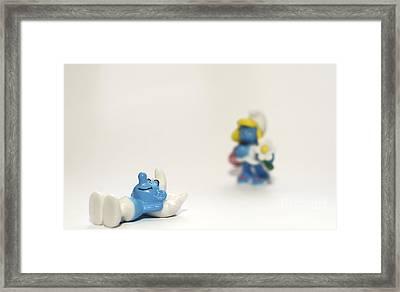 Smurf Figurines Framed Print by Amir Paz