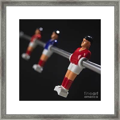 Soccer Framed Print by Bernard Jaubert