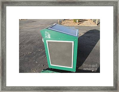 Solar Powered Trash Compactor Framed Print by Photo Researchers, Inc.