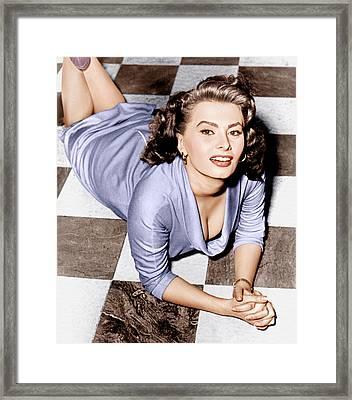 Sophia Loren, Ca. 1950s Framed Print by Everett