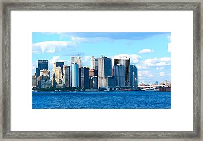 South Ferry Water Ride32 Framed Print by Terry Wallace