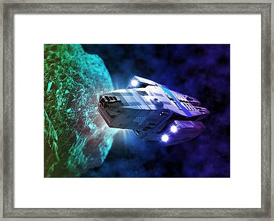 Space Exploration, Artwork Framed Print by Victor Habbick Visions