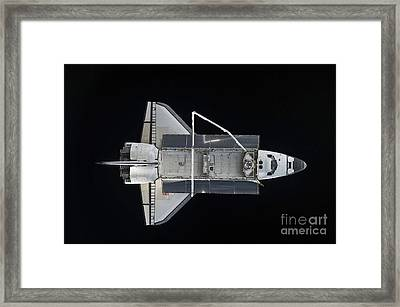 Space Shuttle Atlantis Backdropped Framed Print by Stocktrek Images