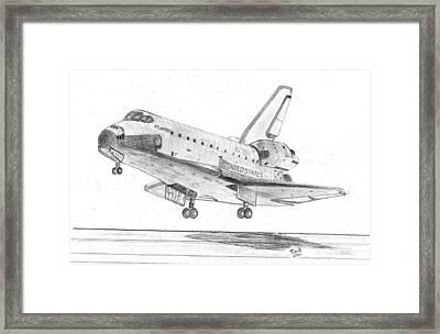 Space Shuttle Atlantis Framed Print by Tibi K