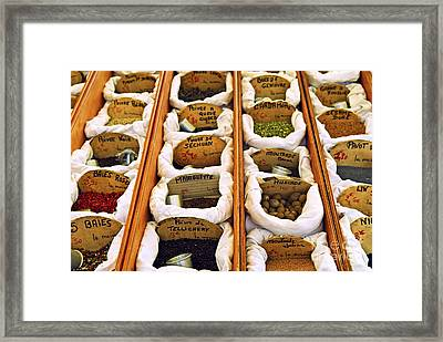 Spices On The Market Framed Print by Elena Elisseeva