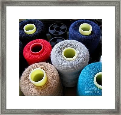 Spools Of Yarn Framed Print by Yali Shi