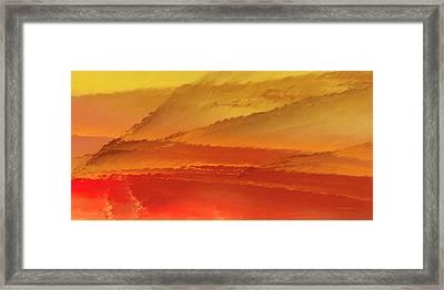 Spray Framed Print by Wally Boggus