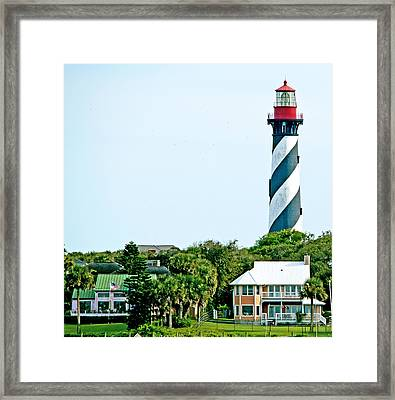 St. Augustine Lighthouse Framed Print by Kenneth Albin
