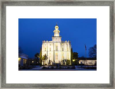 St George Temple Framed Print by La Rae  Roberts