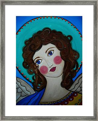 St Michael Archangel Framed Print by Pristine Cartera Turkus