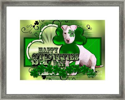 St Patricks - Happy St Pitties Day Framed Print by Renae Laughner