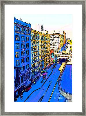 Stockton Street Tunnel In Heavy Shadow Framed Print by Wingsdomain Art and Photography