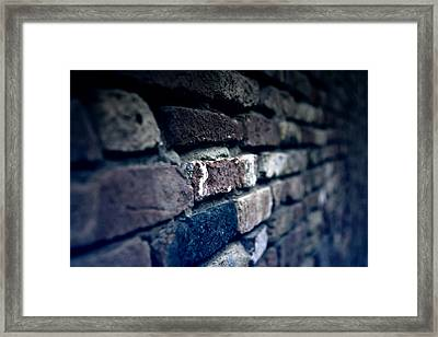 Stone Wall Framed Print by Joana Kruse